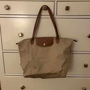 Tan Longchamp Tote Bag